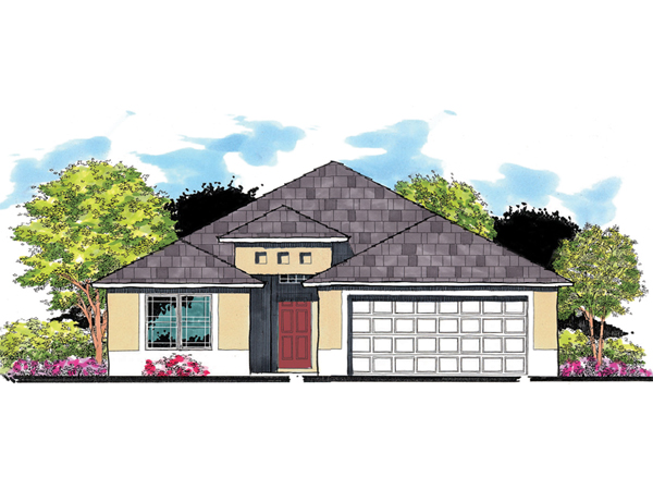 Marbella southwestern home plan 116d 0022 house plans for Small southwestern house plans