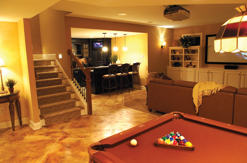 European House Plan Basement Photo 01 119D-0003