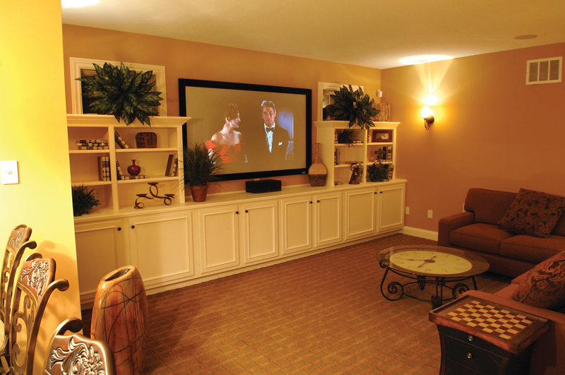 European House Plan Theater Room Photo 01 119D-0003