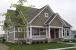 Bungalow House Plan Front of Home - 119D-0004 | House Plans and More