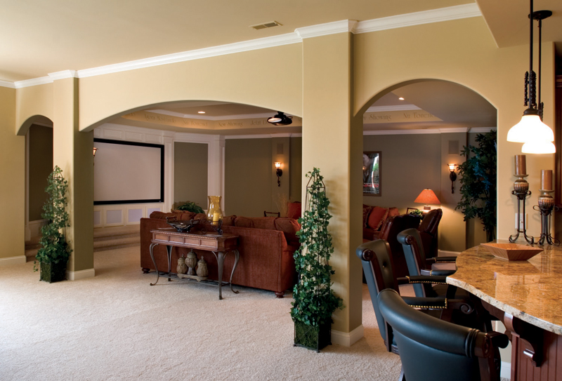 Neoclassical Home Plan Basement Photo 01 119D-0007