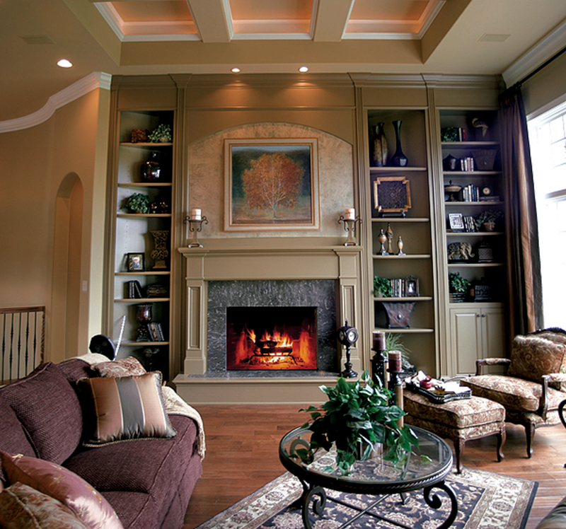 Neoclassical Home Plan Great Room Photo 02 119D-0007