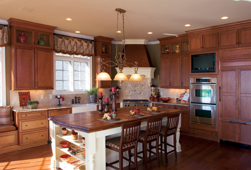 Country French Home Plan Kitchen Photo 01 119D-0007