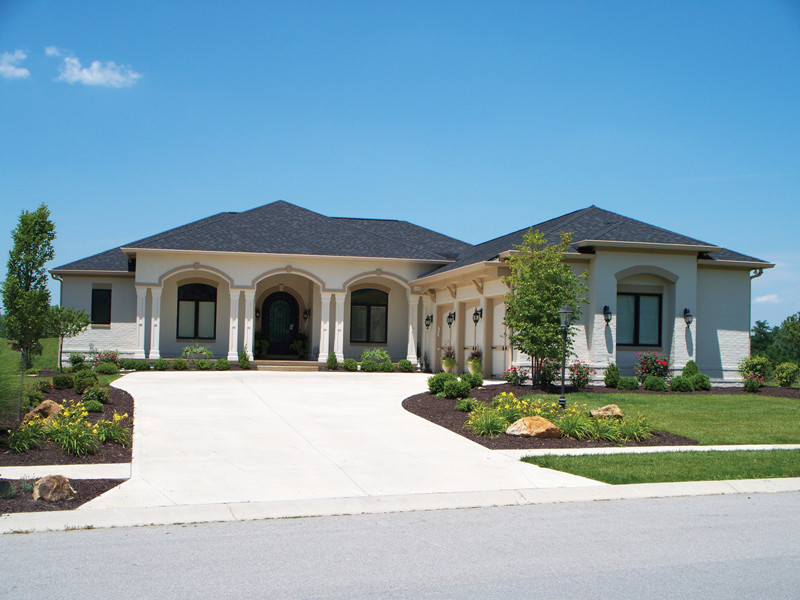 Nola bay florida style home plan 119d 0011 house plans for Florida house designs