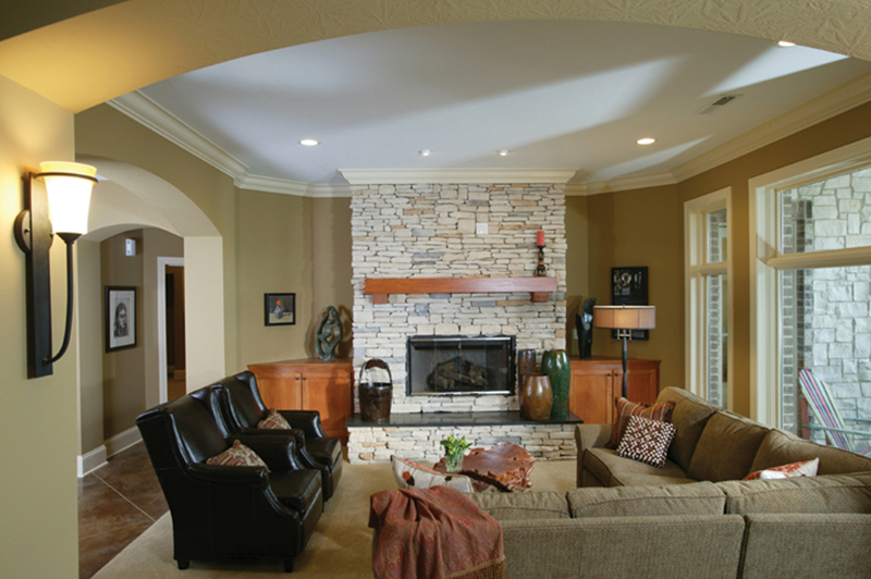 Ranch House Plan Basement Photo 01 119D-0013