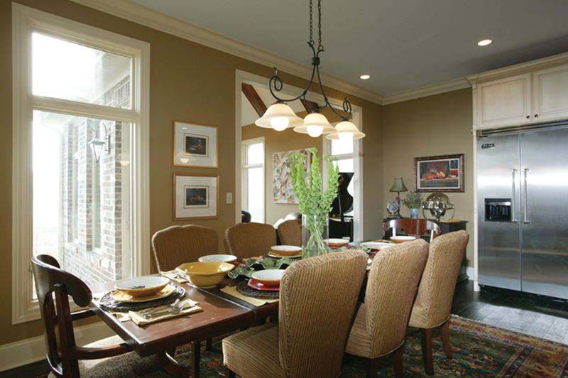 English Tudor House Plan Dining Room Photo 01 119D-0013