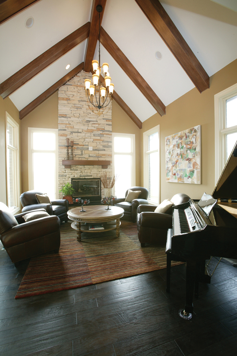English Tudor House Plan Living Room Photo 01 119D-0013