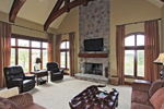 Country French Home Plan Fireplace Photo 01 - 119S-0001 | House Plans and More