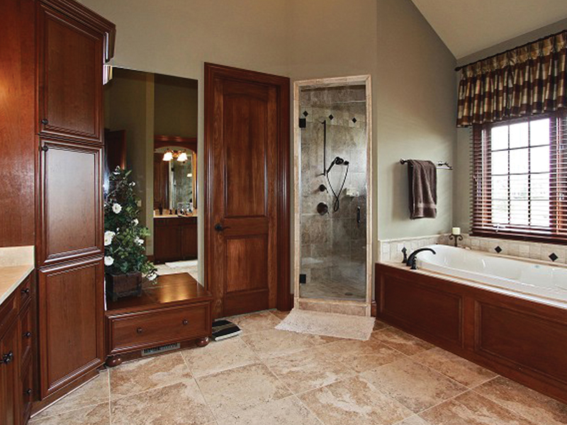 European House Plan Master Bathroom Photo 01 - 119S-0001 | House Plans and More