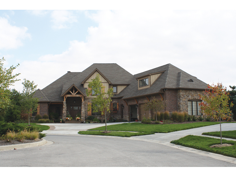 Country French Home Plan Front of Home - 119S-0003 | House Plans and More