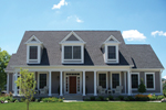 Cape Cod and New England Plan Front of Home - 119S-0011 | House Plans and More