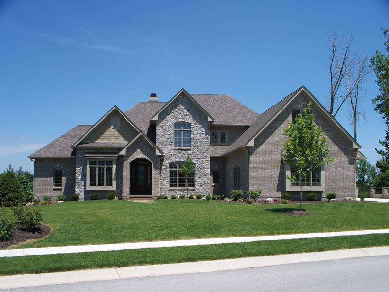 Country French Home Plan Front of Home 119S-0012