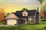 Waterfront Home Plan Front of Home - 121D-0001 | House Plans and More