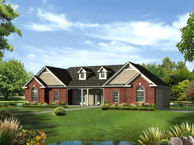 Ranch House Plan Front of Home - 121D-0002 | House Plans and More