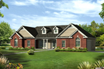 Traditional House Plan Front of Home - 121D-0002 | House Plans and More