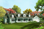 Ranch House Plan Front of Home - 121D-0003 | House Plans and More