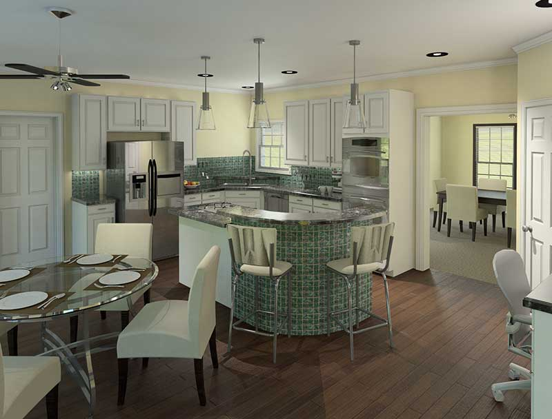 Southern House Plan Kitchen Photo 01 - 121D-0004 | House Plans and More