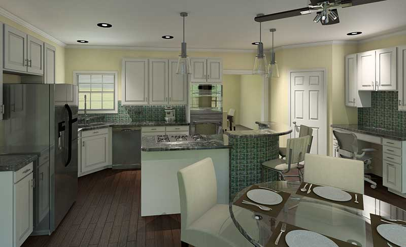 Cape Cod and New England Plan Kitchen Photo 02 - 121D-0004 | House Plans and More