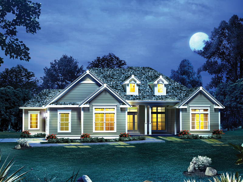 Neoclassical Home Plan Front of Home 121D-0006