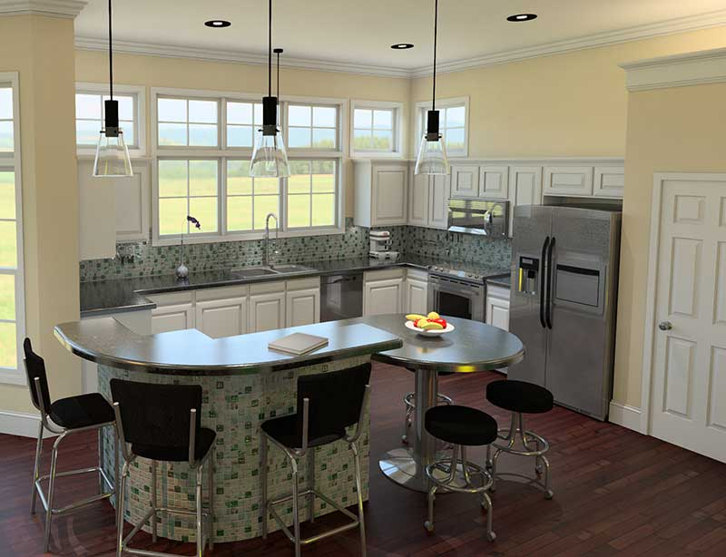 Cape Cod and New England Plan Kitchen Photo 01 - 121D-0006 | House Plans and More