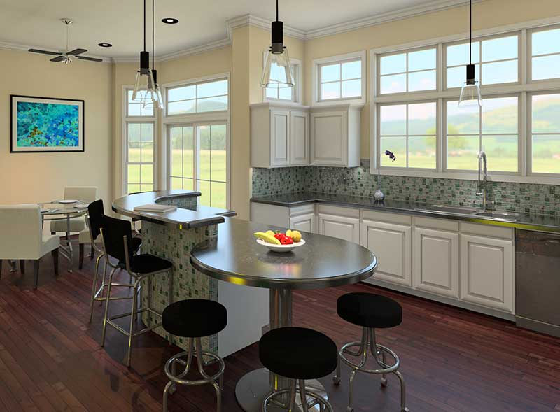 Shingle House Plan Kitchen Photo 03 - 121D-0006 | House Plans and More