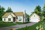 Cape Cod and New England Plan Front of Home - 121D-0007 | House Plans and More
