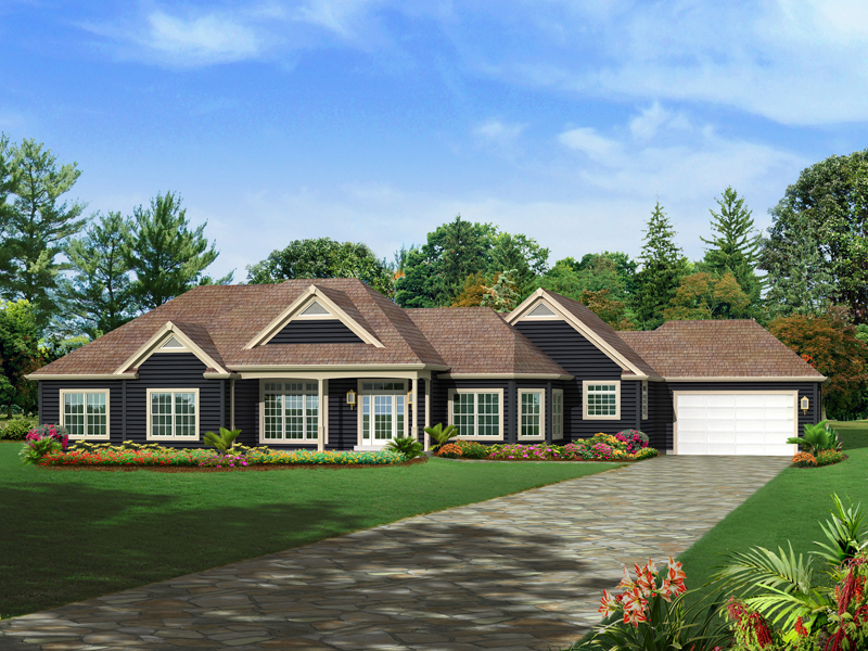 Craftsman House Plan Front of Home - 121D-0008 | House Plans and More