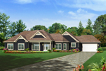 Traditional House Plan Front of Home - 121D-0008 | House Plans and More