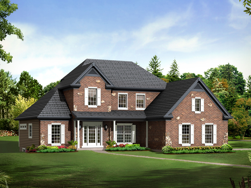 Traditional House Plan Front of Home - 121D-0009 | House Plans and More