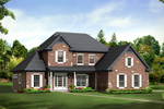 Country House Plan Front of Home - 121D-0009 | House Plans and More