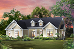 Craftsman House Plan Front of Home - 121D-0011 | House Plans and More