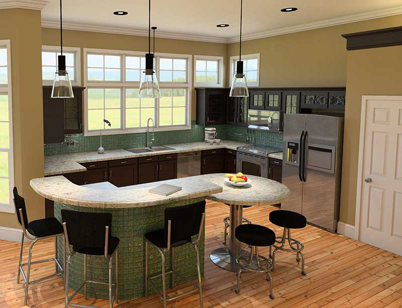 Waterfront Home Plan Kitchen Photo 01 - 121D-0011 | House Plans and More