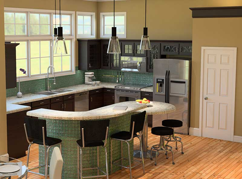 Waterfront Home Plan Kitchen Photo 02 - 121D-0011 | House Plans and More