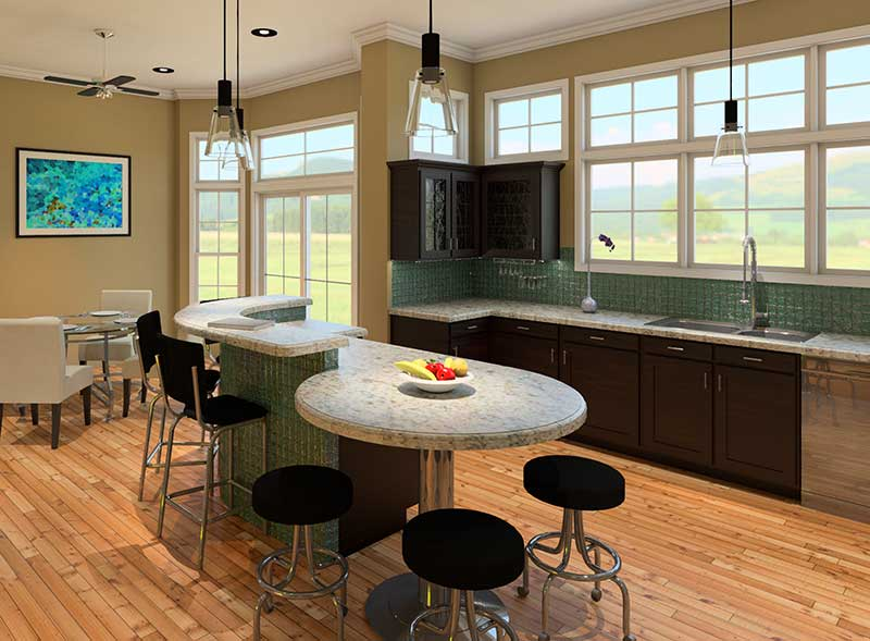 Waterfront Home Plan Kitchen Photo 03 - 121D-0011 | House Plans and More