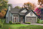 Ranch House Plan Front of Home - 121D-0012 | House Plans and More