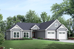 Waterfront House Plan Front of Home - 121D-0013 | House Plans and More