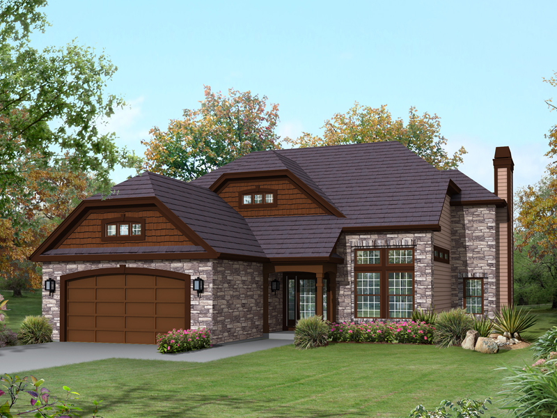 Waterfront Home Plan Front of Home - 121D-0014 | House Plans and More