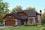 Vacation Home Plan Front of Home - 121D-0014 | House Plans and More