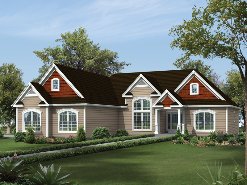 Country House Plan Front of Home - 121D-0015 | House Plans and More