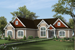 Ranch House Plan Front of Home - 121D-0015 | House Plans and More