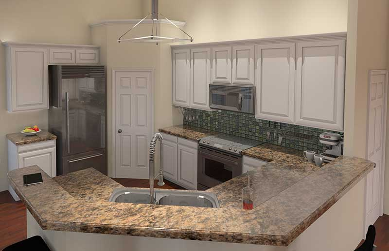 Traditional House Plan Kitchen Photo 01 - 121D-0016 | House Plans and More