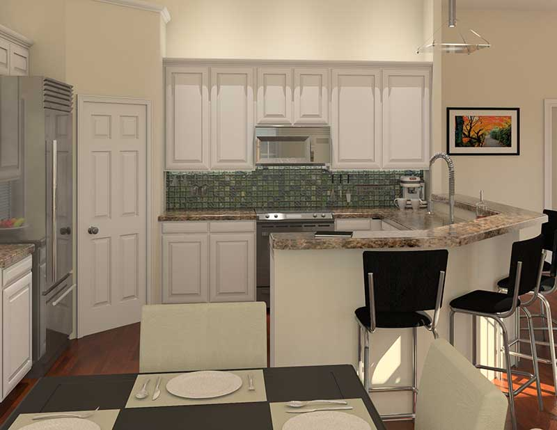 Traditional House Plan Kitchen Photo 02 - 121D-0016 | House Plans and More
