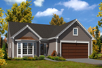 Ranch House Plan Front of Home - 121D-0017 | House Plans and More