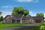 Ranch House Plan Front of Home - 121D-0018 | House Plans and More