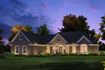 Traditional House Plan Front of Home - 121D-0019 | House Plans and More