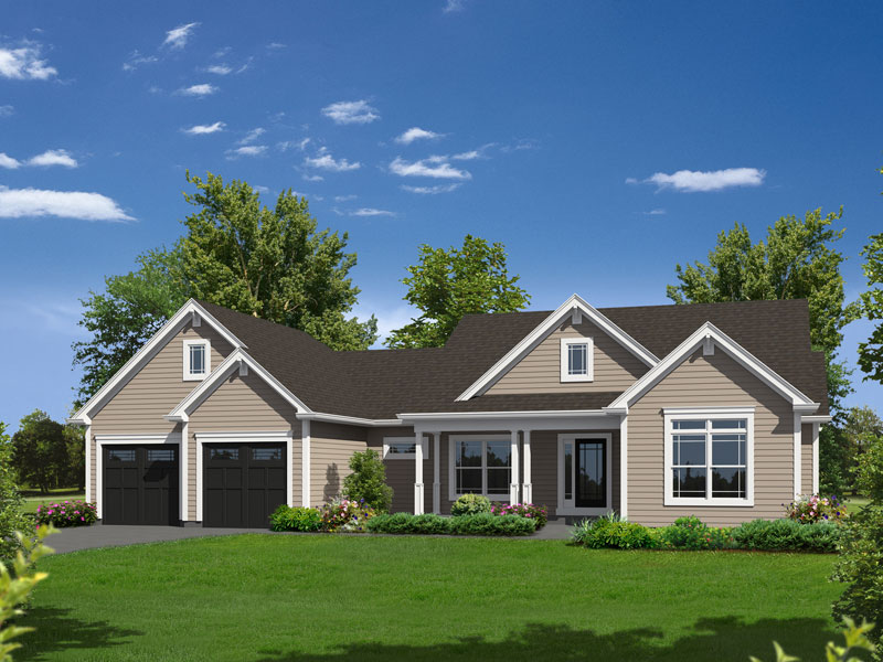 Country House Plan Front of Home - 121D-0020 | House Plans and More
