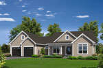 Craftsman House Plan Front of Home - 121D-0020 | House Plans and More