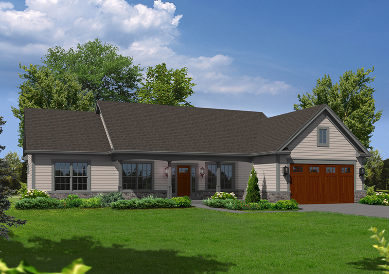 Cape Cod and New England Plan Front of Home - 121D-0021 | House Plans and More