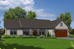 Ranch House Plan Front of Home - 121D-0021 | House Plans and More