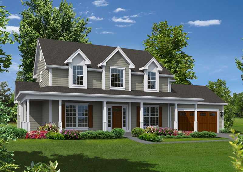 Georgian House Plan Front of Home - 121D-0022 | House Plans and More